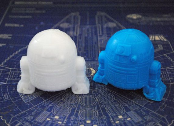 2 x Handmade R2D2 Soap  Star Wars Christmas gift by NerdySoap