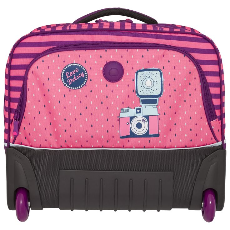 #BacktoSchool with #DELSEY! #Backpack for #girls #camera #drawing #pink #cute