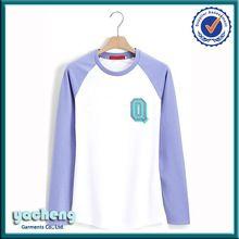 wholesale two tone long sleeve crewneck womens tshirt custom design cheap cotton raglan sleeve womens printing t shirt  best seller follow this link http://shopingayo.space