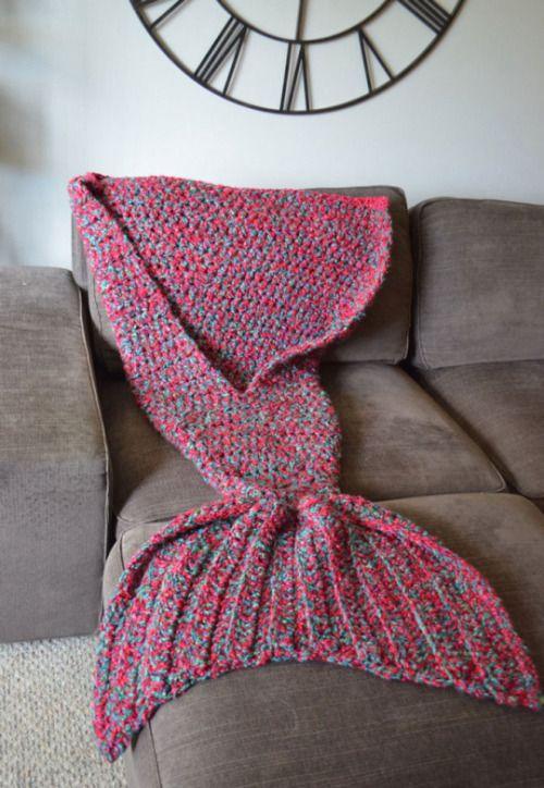 Esta cola de sirena tejida hará que te replantees usar pijama - Yahoo Vida y Estilo España