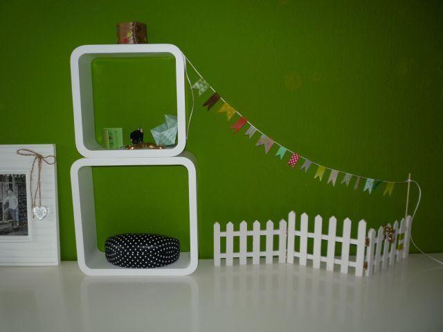 Brennender Schuh - Washi Masking Tape Fähnchengirlande Dekoration Mini-Zaun