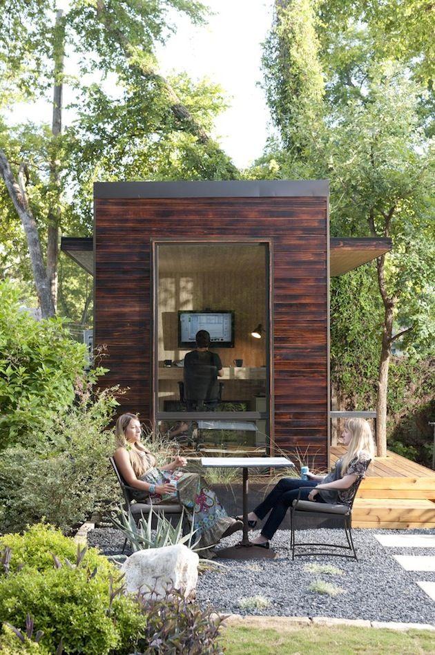 tiny pod home office outdoors backyard office pod cuts