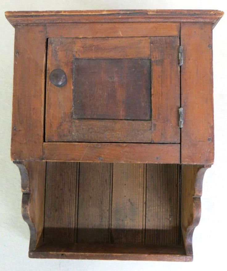 Small 19th century pennsylvania hanging wall cupboard for Small wooden furniture