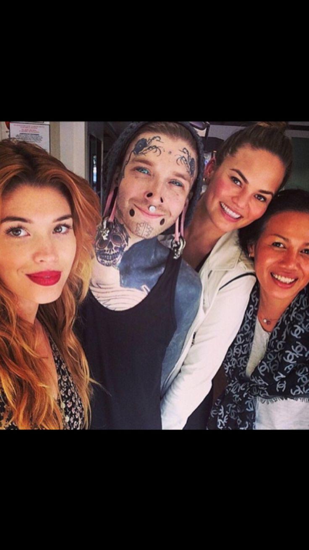 Crissy, her mom, & makeup artist Lauren Anderson; first tattoo. Aw 💗