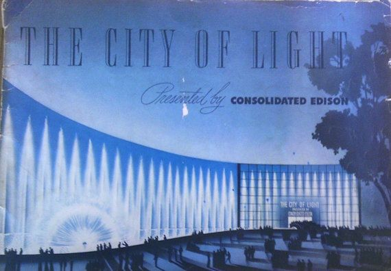 """Vintage """"The City of Light"""" Consolidated Edison souvenir booklet, 1939 New York World's Fair collectible, advertisement"""