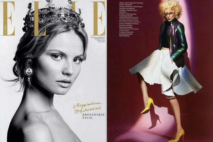 "ELLE POLAND SEPTEMBER 2013/ WHITE QUILTED SKIRT from ""THE UNSEEN"" A/W 2013/14 "" MODA POLSKA "" foto: MARCIN KEMPSKI / stylist: INA LEKIEWICZ / model: CHARLOTTE TOMAS / MODELPLUS / hair: EMIL ZED / make-up: ANETA KOSTRZEWA"