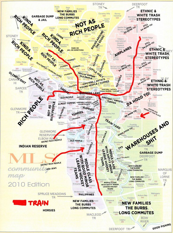 Helpful new map for people thinking of moving to Calgary. Heehee
