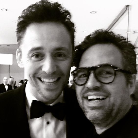 Tom Hiddleston and mark ruffalo