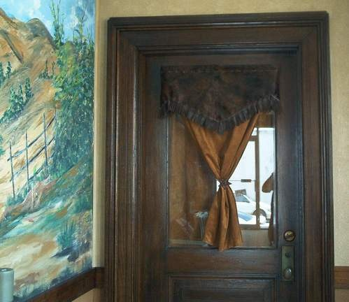About front door with half window on pinterest curtains for doors