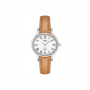 T1031101603300 Μικρό ρετρό οβάλ γυναικείο ρολόι TISSOT BELLA ORA PICCOLA σε λευκό καντράν με ταμπά λουράκι | Ρολόγια TISSOT στο Χαλάνδρι ΤΣΑΛΔΑΡΗΣ