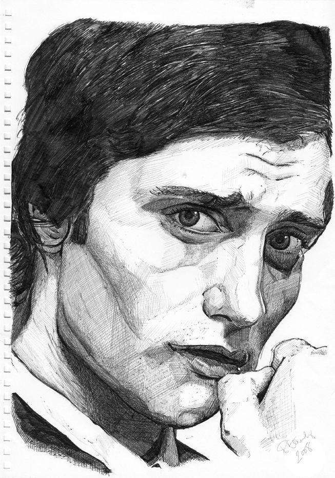Pencil/Ink Portrait - Lee Williams -  Actor - Lee Williams is a Welsh actor and former model. Williams was the face of French Connection TV, CK Jeans, Sisley, and has worked as a model for designers such as Vivienne Westwood and Calvin Klein... www.bje-art.co.uk