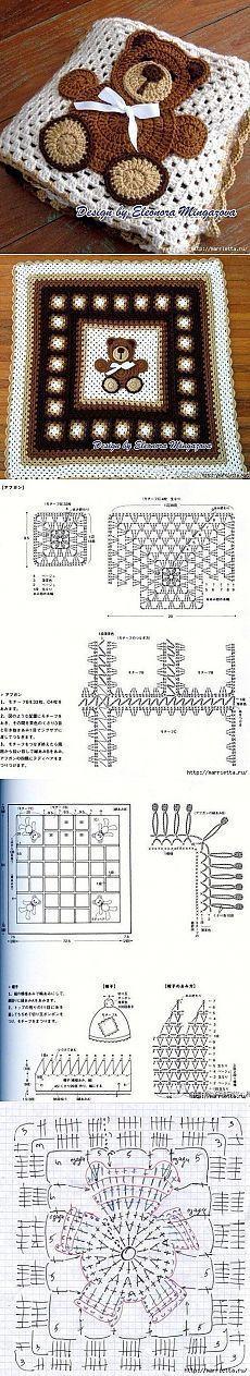 Crochet teddy blanket diagram .. Постила