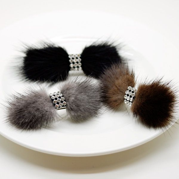 ★ SALE ★, fur jewelry» fluffy mini リアルミンク fur ( fur ) Baretta? s non-cod.