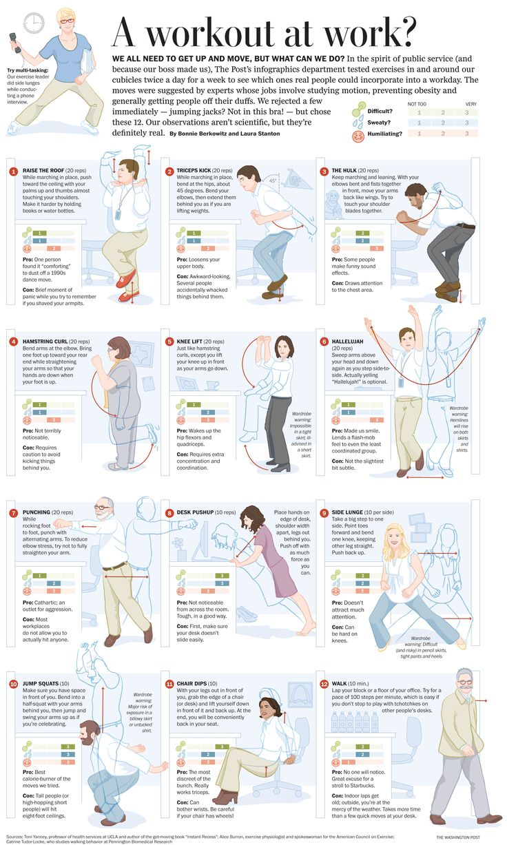 41 best office & desk exercises images on pinterest | office