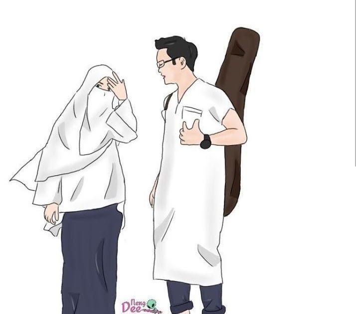 Terbaru 30 Gambar Kartun Pasangan Islam- Unduh 600 Gambar ...