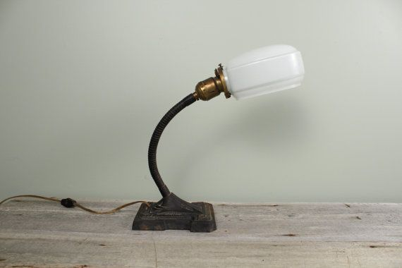 Industrial Desk Lamp Gooseneck Lamp with Metal by NewfoundFinds