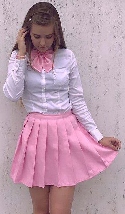 Tiny plaid skirt amateur petticoat cunt