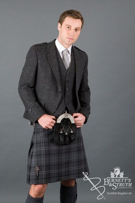 Tweed day jacket men 39 s outfits pinterest kilts for Men s wedding dress shirts