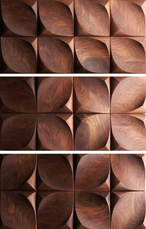 Urban Product: Dune 3-D wood wall tiles