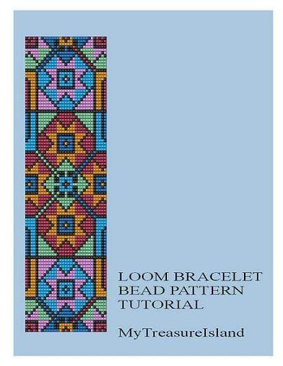 Bead Loom Geometrical Motif 7 Multicolor by MyTreasureIsland, $5.00