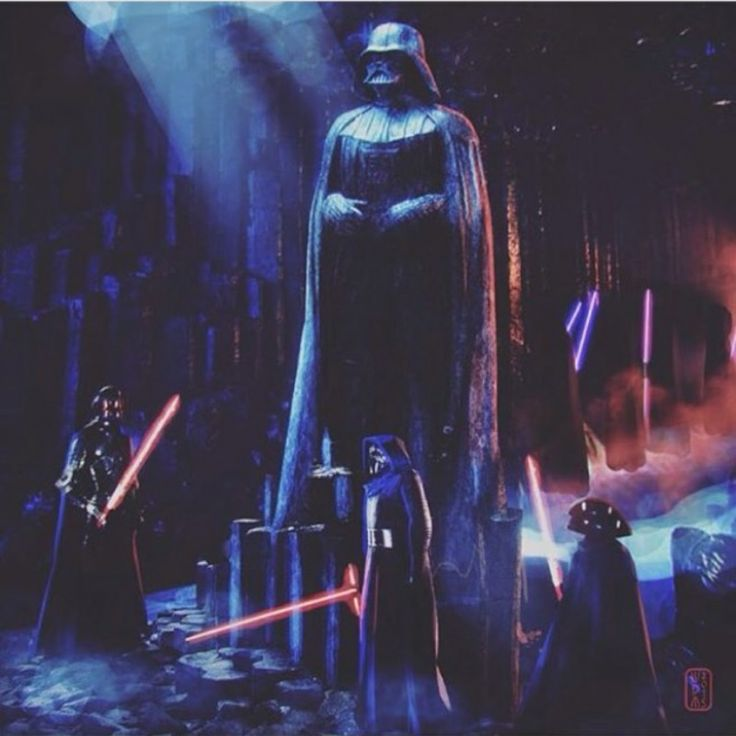 New Knights of Ren with Darth Vader statue concept art ...