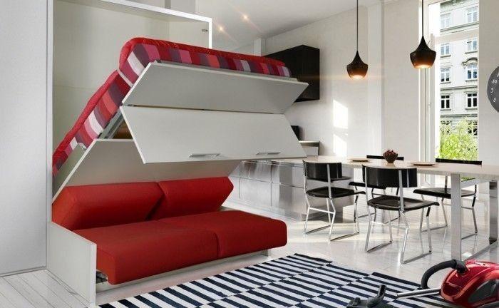 تخت تاشو دیواری دو نفره عمودی آرامش New Bed Designs Bed Design Small Appartment