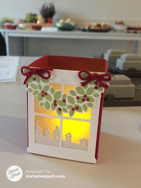 Windlicht mit Falzbrett für Geschenktüten