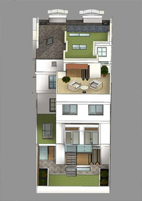 Shape Architecture London | Architects London, Contemporary Architects, Residential Architect     Reverse conversion in Kensington, London
