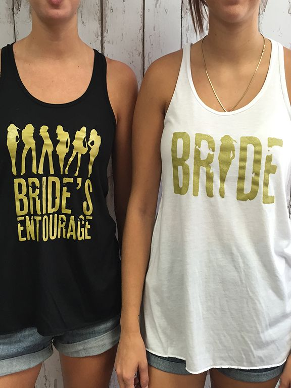 Bride's Entourage - Bulk Bridal Party Tank Tops Rock the Casbah with these amazing Bride's Entourage tanks from With Luv Design