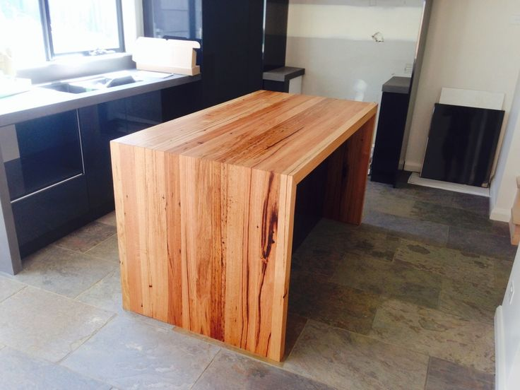 Messmate solid timber kitchen bench