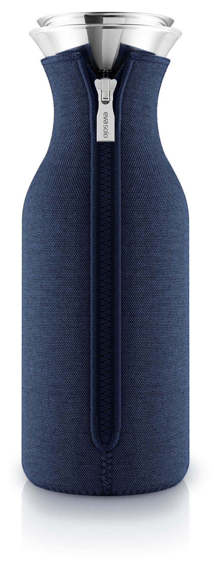 Navy blue fridge carafe by Eva Solo
