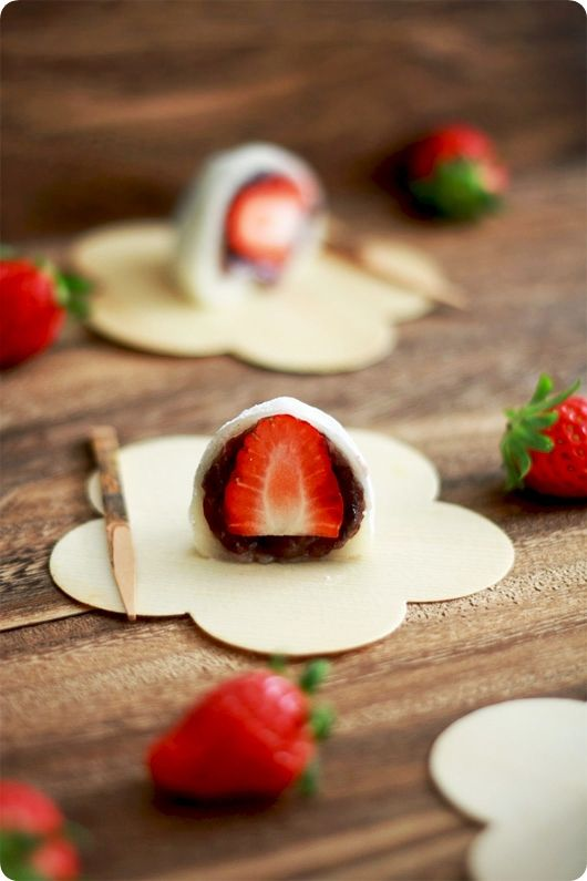 My favorite japanese dessert of all time: Strawberry Daifuku ~~I love it too, and it's actually not that bad to make it yourself