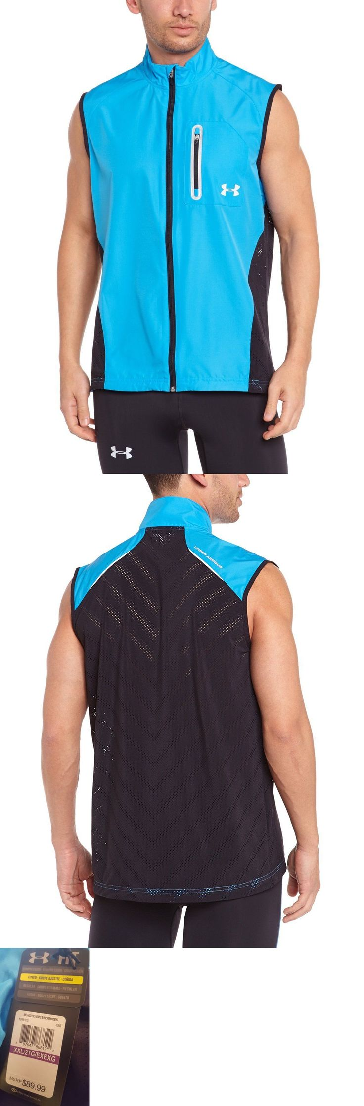 Jackets and Vests 59353: Nwt $90 Men S Under Armour Armourvent Run Running Vest Fitted Blue 1246106 - 2Xl -> BUY IT NOW ONLY: $38.99 on eBay!