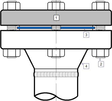 Details of Blind flange