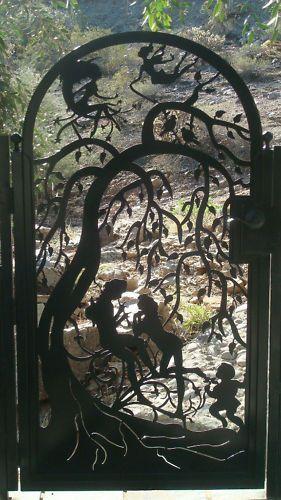 METAL ART GATE SALE CUSTOM WROUGHT IRON STEEL GARDEN DECORATIVE ORNAMENTAL ENTRY | eBay