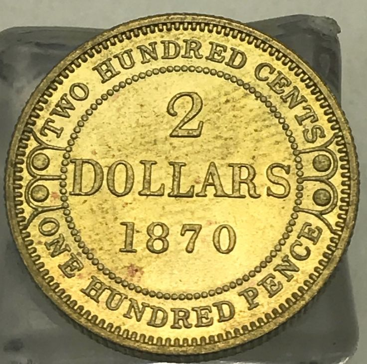 Canada 1870 2 Dollars Two Hundred Cents Victoria Newfoundland Hundred Pence Gold Crafts Brass Metal Copy Coin