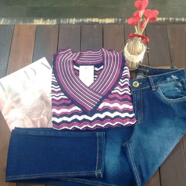 Blusa de fio @mariafilo  Calça jeans @anselmi! #mariafilo #pequenosparaisos #calca #calcajeans #anselmi #look #lookoftheday #outonoinverno #outonoinverno2016 #inverno #inverno2016 #ootd #moda #fashion #fashionstyle #instafashion #instalook #instamoda #tricot #jeans #dicadepresente #diadosnamorados #valentineday #amor #love #vempraoxalis #oxalismoda by oxalismoda