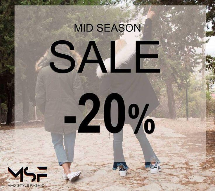 Οι εκπτώσεις ξεκίνησαν και στο @mad_style_fashion μπες στη σελίδα μας www.madstylefashion.gr και διάλεξε τα αγαπημένα σου κομμάτια με -20%😎