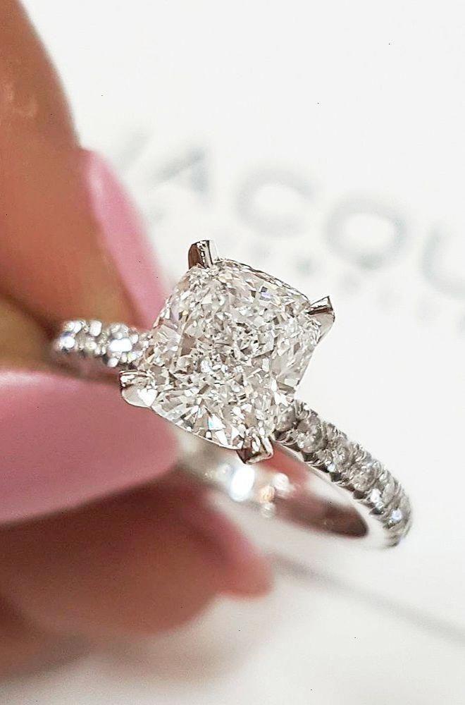 2.7ct Forever Moissanite Ring Near White Round Cut Engagement 14k White Gold Fn
