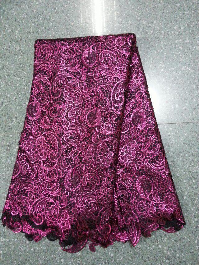 Красивый свадебное платье ткани. африканский французский водорастворимый ткань кружевное полотно. ( SR18-2 )