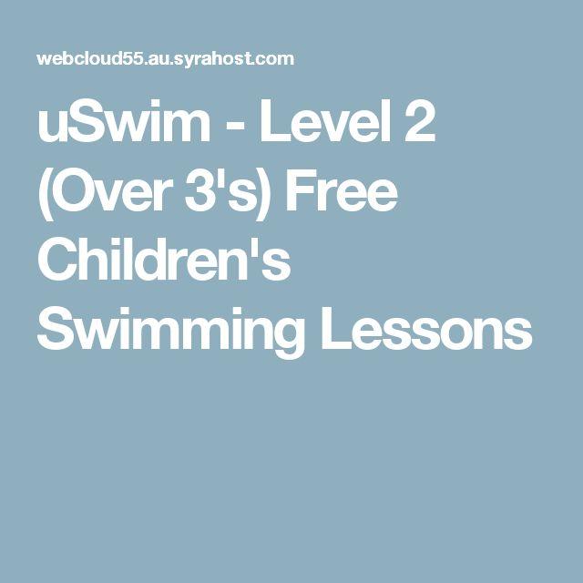 uSwim - Level 2 (Over 3's) Free Children's Swimming Lessons