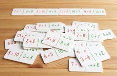 CÁLCULO MENTAL-Dominó con sumas equivalentes para practicar el cálculo mental. Ver en http://aprendiendomatematicas.com/tienda/home/497-domino-sumas-equivalentes.html