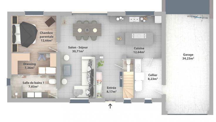 Chambre Parentale Avec Salle De Bain Et Dressing Inspiré Plan Suite .. – #avec …