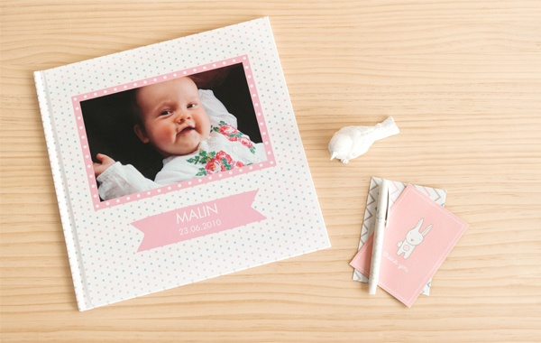The beautiful new design theme, Bebis, is now available at Create with kikki.K. Decorate your next Baby Brag Book or Family Photo Album with its playful characters today.