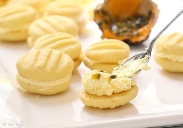 Passion Fruit Melting Moments Tiny cookies that do indeed melt in your mouth, fresh passion fruit juice boosts these Melting Moments into...