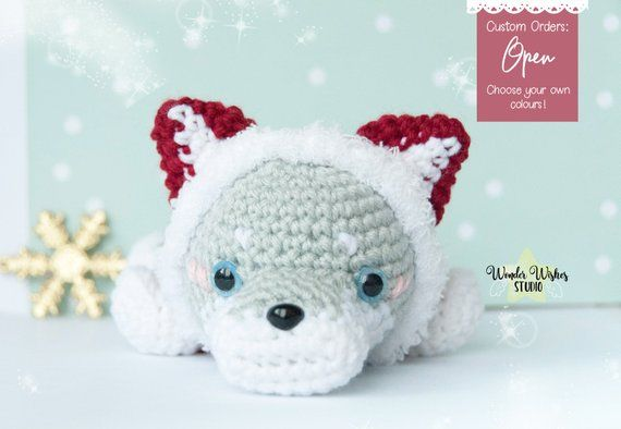 Crochet Wolf- Stuffed Wolf- Wolf Plush- Woodland Animals-Forest ... | 394x570