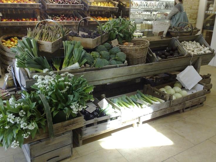 Dalyesford Organic FarmFarms Shops Display, Produce Display, Trays Baskets, Daylesford Marketing, Organic Farms, Stores Display, Hall Emporium, Drill Hall, Daylesford Organic