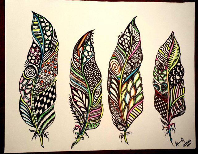 tollak absztrakt rajz virág absztrakt művészet által abstract9912
