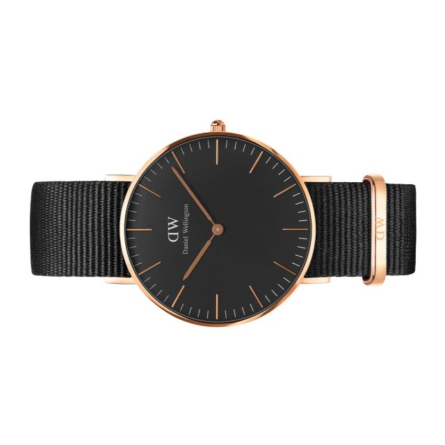 Classic Black Cornwall 36mm Use Code SWEETUMS to get 15% off when you order from https://www.danielwellington.com/