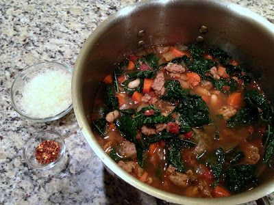Italian Sausage, Kale and Cannellini Bean Soup